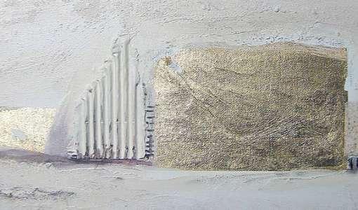 Gold und die Farbe Weiß in der Acrylmalerei