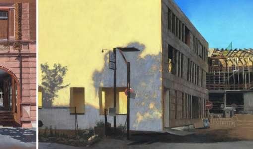 Moderne Pastellmalerei und Architektur