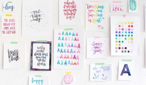 Handlettering – Die Kunst schöne Buchstaben zu zeichnen