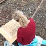 Objekte zeichnen lernen draußen in Hattingen